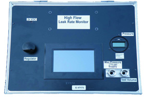 High Flow Leak Monitor, Leak Tester